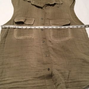 Free People Tops - Free people  sleeveless shirt cotton airy S/P